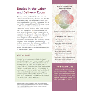 Doulas in the Labor and Delivery Room handout