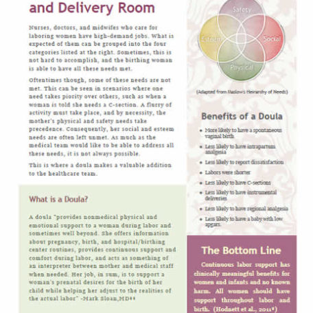 Doulas in the Labor and Delivery Room – Free Handout
